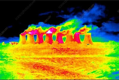 Cooling towers, thermographic footage