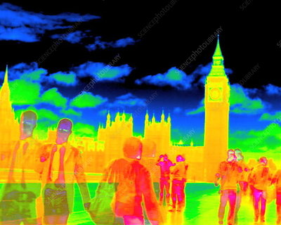 Houses of Parliament, thermogram