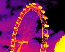 London Eye, thermogram