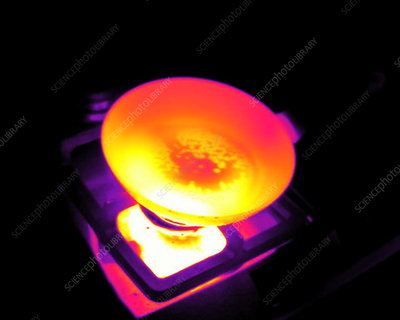 Frying an egg, thermogram