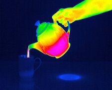 Pouring tea, thermography