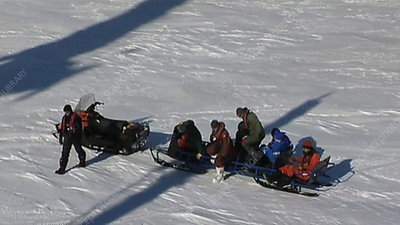 Snow mobile, Antarctica