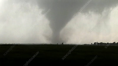 Tornado touching down, Oklahoma, USA