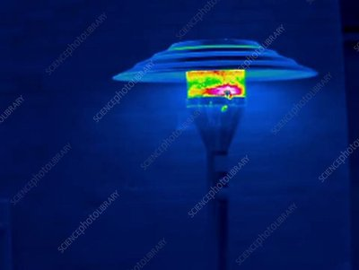 Thermogram of patio lamp