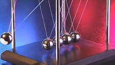Newton's cradle in slow motion