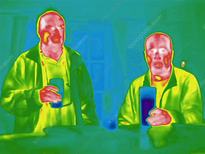 Drinking in a pub, thermography