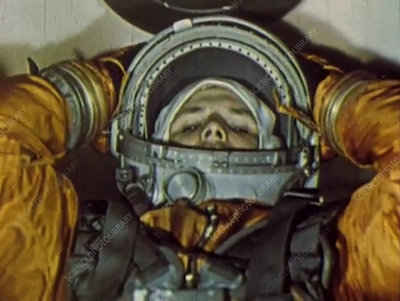 Gagarin in Vostok spacecraft