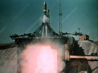 Gagarin's first human spaceflight launch