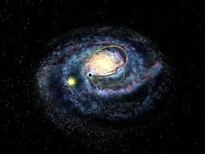 Milky Way and black hole