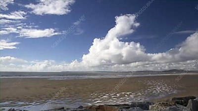 Swansea bay clouds, timelapse