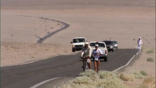 People running in Death Valley