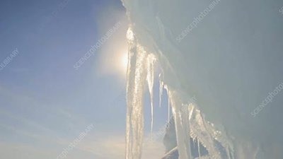 Melting Arctic icicles