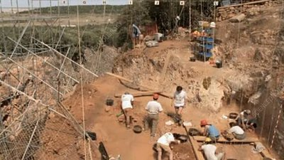 Excavations at Gran Dolina, Spain