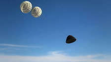 Orion spacecraft, parachute descent