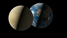 Earth and Venus compared
