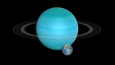 Earth and Uranus compared