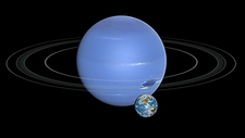 Earth and Neptune compared