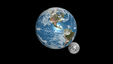 Earth and moon compared