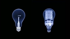 Light bulb comparison, X-rays