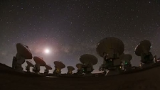 Night sky over the ALMA array