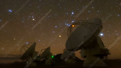 Orion rising over the ALMA array