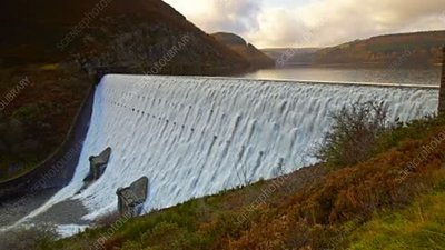 Caban Coch dam, timelapse