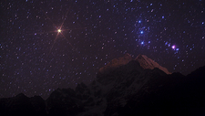 Orion rising over Thamserku mountain