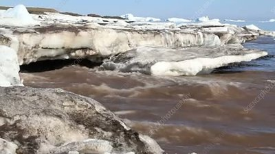 Arctic spring meltwater