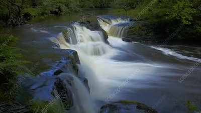 Waterfall on Afon Nedd river, Wales