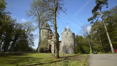 Approaching Castell Coch, Wales