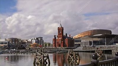 Pierhead Building and the Senedd, Wales