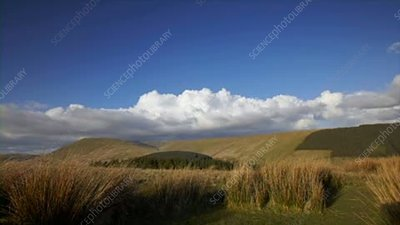 Clouds over Pen y Fan, Wales, timelapse
