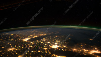 ISS pass over North America