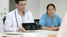 Two doctors in meeting