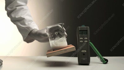 Endothermic mixing reaction