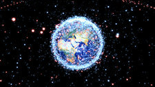 Space junk and satellites, animation