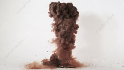 Nitrogen triiodide explosion, high-speed