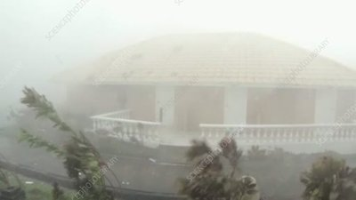 Typhoon Haiyan battering a resort