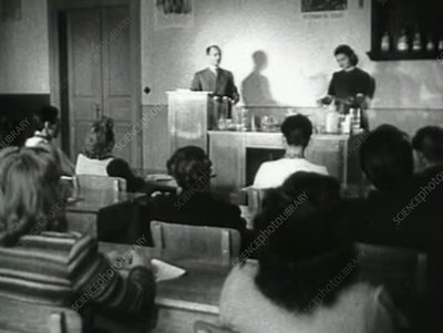Students in a Soviet university