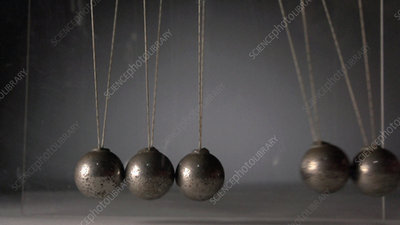 Newton's cradle, high-speed