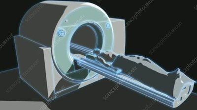 Patient entering MRI scanner