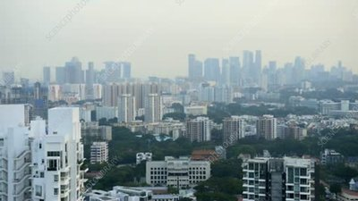 Singapore at nightfall, timelapse