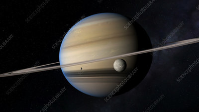Rings and moons of Saturn