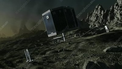 Philae approaching and landed on comet 67P