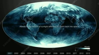 Changes in Earth's albedo, 2001-2013