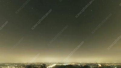 Spring stars and light pollution