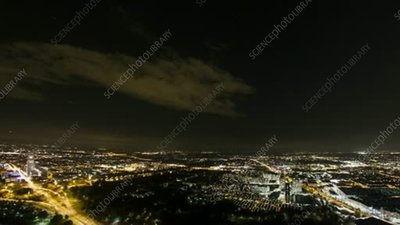 Munich at night, timelapse