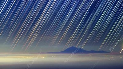 Teide volcano star trails