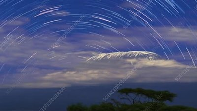 Mt Kilimanjaro star trails