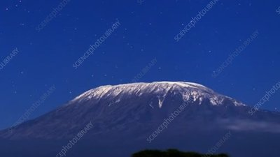 Mt Kilimanjaro at night, timelapse